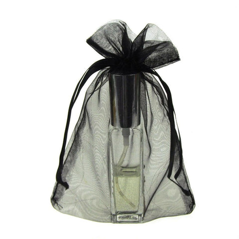 Organza Favor Pouch Bag, 5-Inch x 6-1/2-Inch, 12-Count, Black