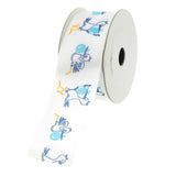 Flying Stork White Polyester Ribbon, 1-1/2-Inch, 10-Yard