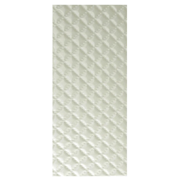Leatherette Diamond Self Adhesive Sheet Sticker, 9-3/4-Inch, Cream