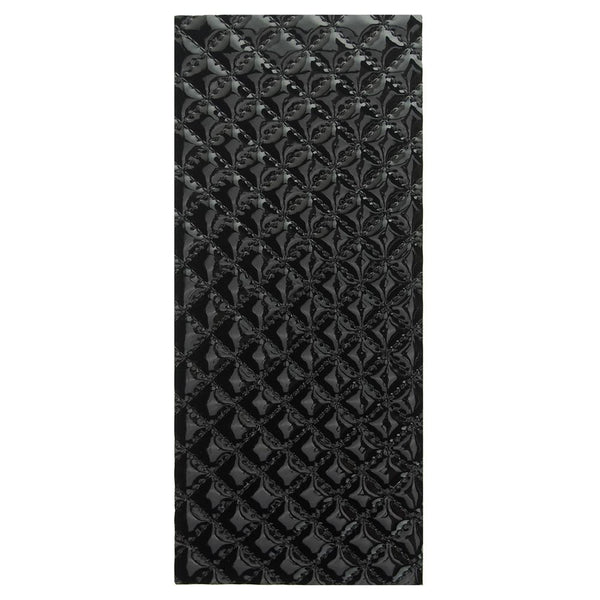 Leatherette Diamond Self Adhesive Sheet Sticker, 9-3/4-Inch, Black