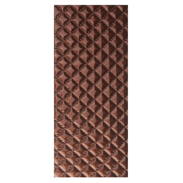 Leatherette Diamond Self Adhesive Sheet Sticker, 9-3/4-Inch, Brown