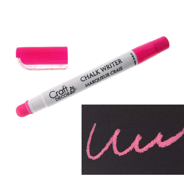 Erasable Chalk Writer, Broad Point, 5-Inch, Neon Pink