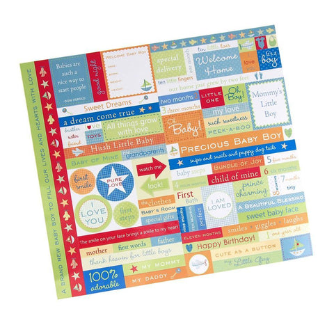 Baby Boy Fresh Verse Card-stock Stickers, Assorted Color, 10-Inch