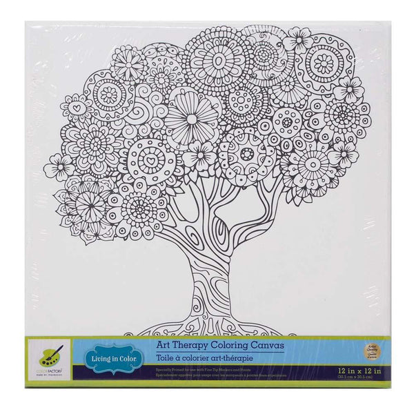 Family Tree Stretched Canvas Paint Board, White, 12-Inch