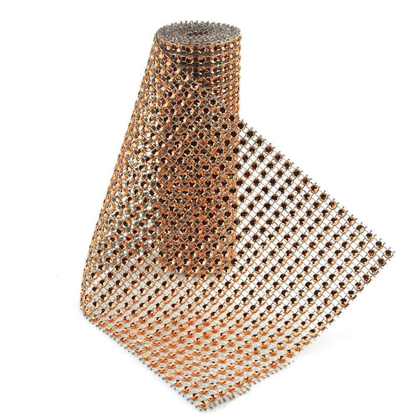 Rhinestone Mesh Wrap Roll, 4-3/4-Inch, 1-Yard, Brown
