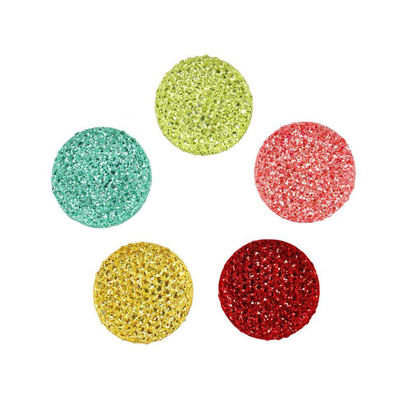 Round Self Adhesive Diamond Cluster Gems, 3/8-Inch, 10-Count