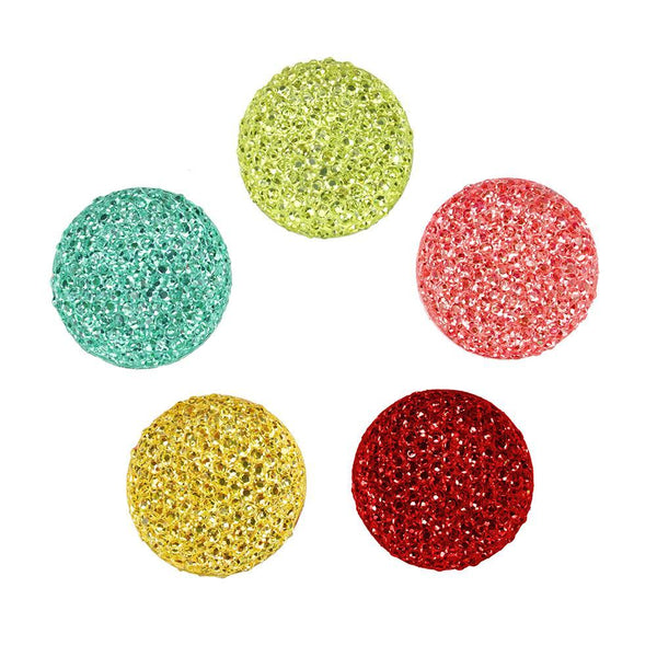 Round Self Adhesive Diamond Cluster Gems, 3/4-Inch, 10-Count