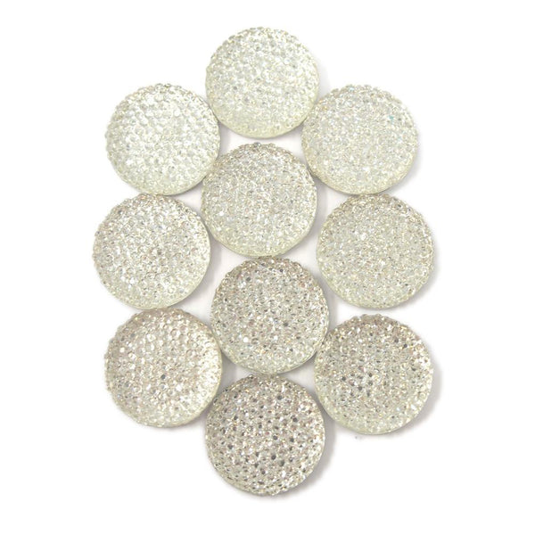 Round Self Adhesive Diamond Cluster Gems, Clear, 24mm, 10-Count