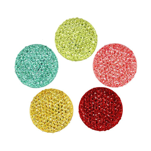Round Self Adhesive Diamond Cluster Gems, 1-Inch, 10-Count