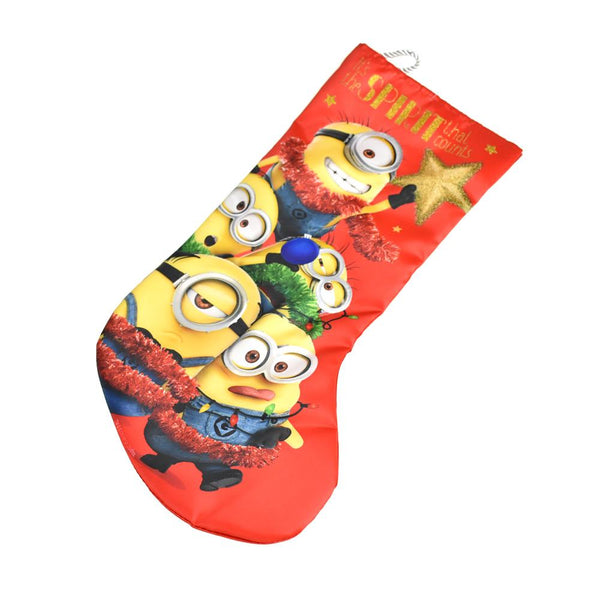 Despicable Me Minion Printed Stocking, Red, 18-Inch