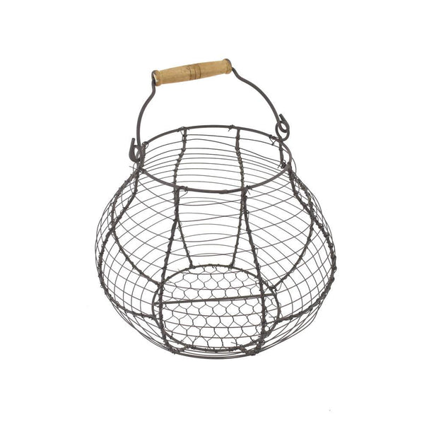 Wired Egg Basket and Handle, 8-3/4-Inch