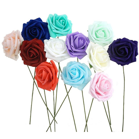 Latex Foam Artificial Rose Stems, 9-1/4-Inch, 25-Count