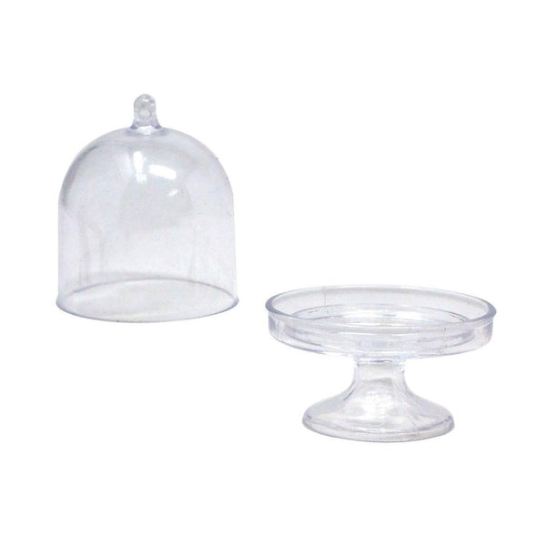 Clear Acrylic Mini Cake Stand, 3-Inch, 12-Count