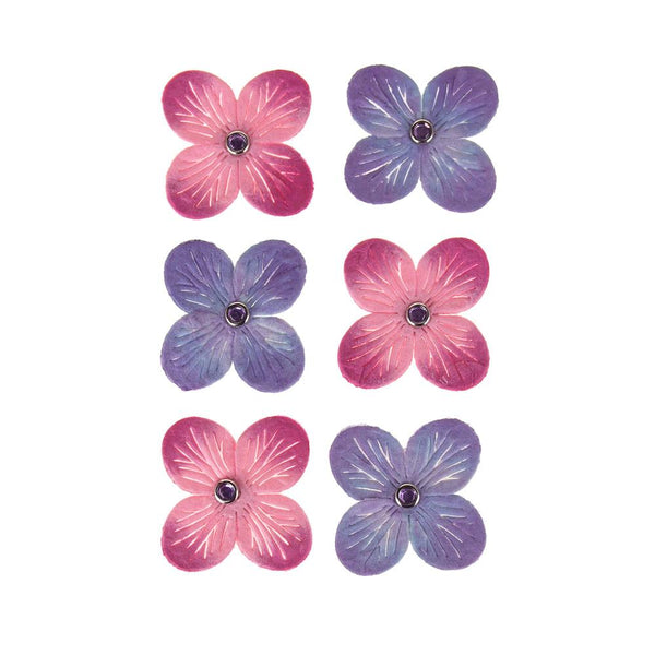 Self-Adhesive Flower Embellishment, 1-1/2-Inch, 6-Count, Princess