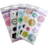 Self Adhesive Assorted Paper Flowers 3D, 8-Count