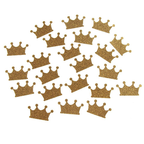 Glitter Paper Crowns, Gold, 1-1/2-Inch, 16-Count