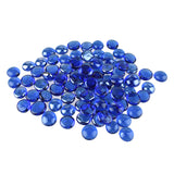 Flat Glass Marble Gems, 15-Ounce, 100-Count, Blue