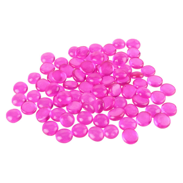 Flat Glass Marble Gems, 15-Ounce, 100-Count, Pink