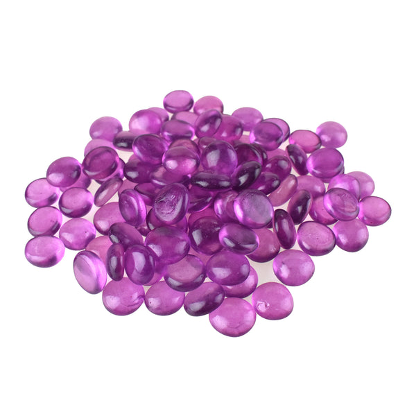 Flat Glass Marble Gems, 15-Ounce, 80-Count, Purple