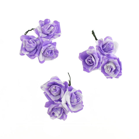 Foam Flowers with Twist Ties, 1-Inch, 9-Count, Lavender