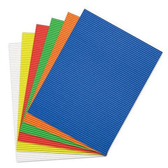 Corrugated Paper Card-stock Sheets, Assorted, 11-Inch
