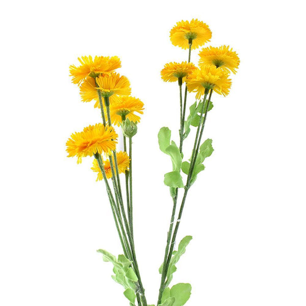 Artificial Aster Daisy Spray, Yellow, 29-Inch