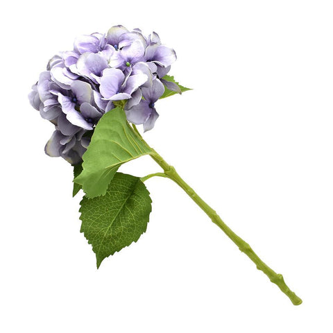 Artificial Tall Hydrangea Floral Stem, Lavender, 19-Inch