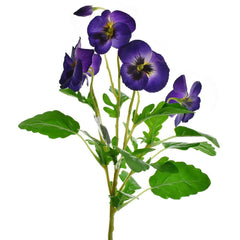 Artificial Pansy Spray, Purple, 16-1/2-Inch