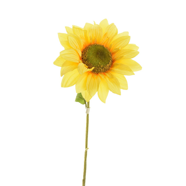 Artificial Sunflower Spray, Light Yellow, 24-Inch