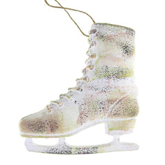 Large Ice Skate Christmas Tree Ornament, White, 6-1/2-Inch