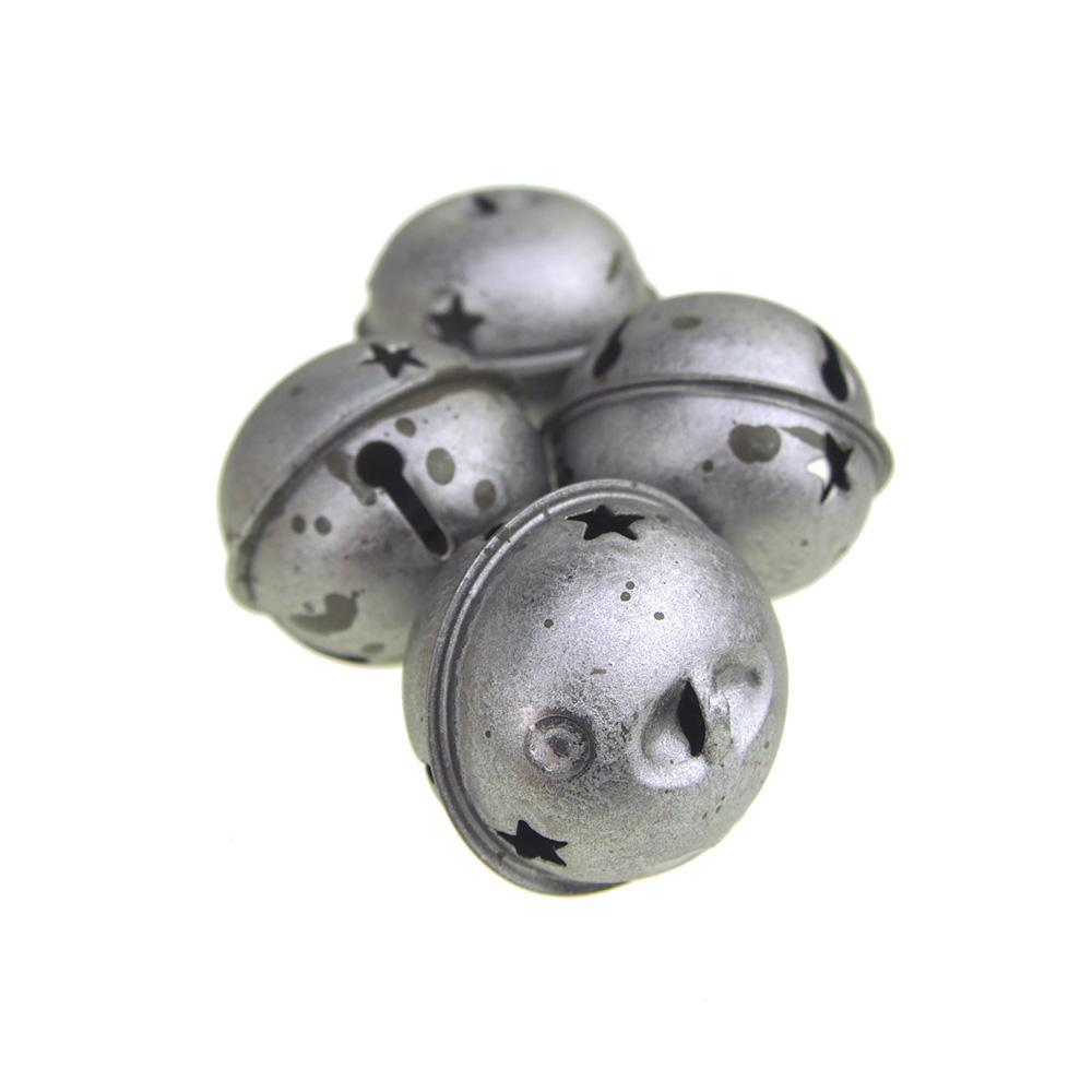 2-1//2-Inch Homeford Rustic Style Galvanized Silver Christmas Jingle Bells
