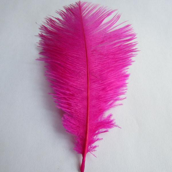 Ostrich Feather Decorative Centerpiece, 15-Inch, 1-Piece, Fuchsia