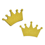 Glitter Wooden Crown Cut-Outs, 3-Inch, 4-Piece