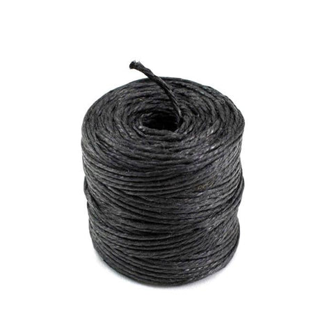 Burlap Jute Twine Rope, 3-Ply, 3mm, 75 Yards, Black
