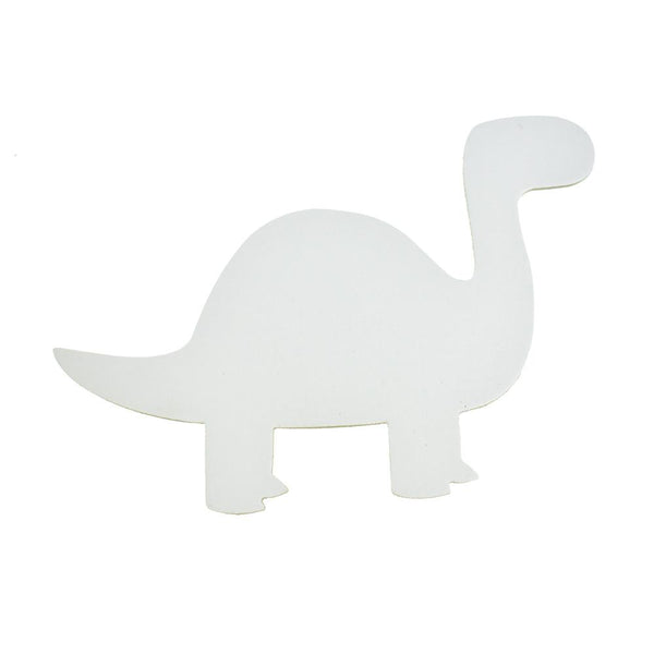 Dinosaur Primed DIY Paint-a-Canvas, White, 8-Inch