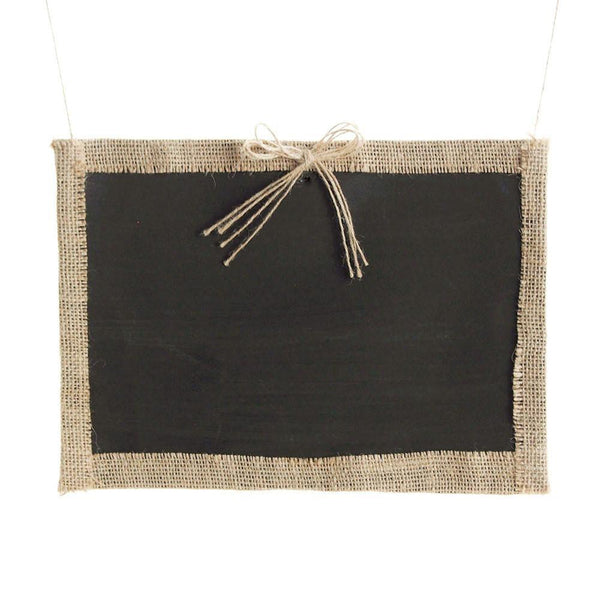 Hanging Chalkboard Frame with Burlap Border, 12-Inch