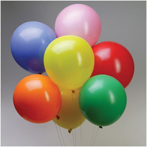 Latex Balloons Party Supplies, 12-inch, 12-piece, Assorted