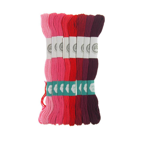 Cotton Embroidery Floss, 8.7-Yard, 8-Count, Rouge Tints