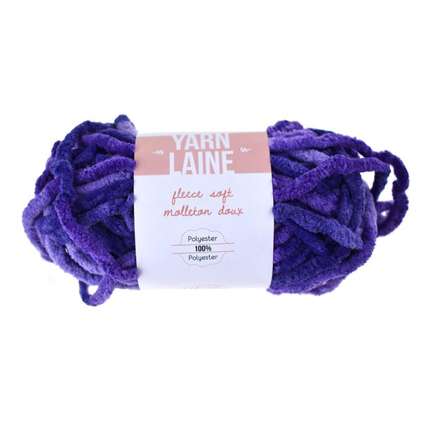 Fleece Soft Polyester Yarn Bundle, 21-Yard, Viola