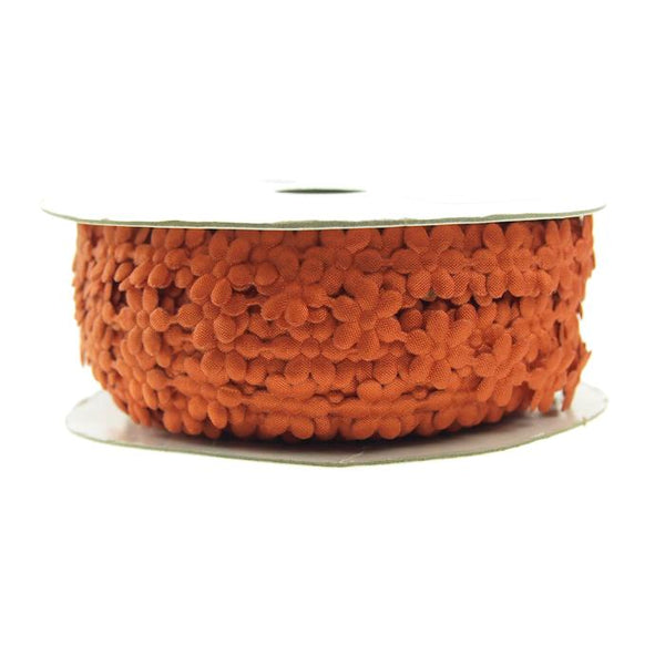 Polyester Flower Garland Ribbon, 3/8-Inch, 25-Yard, Orange