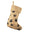 Animal Paw Print Burlap Christmas Stocking, Natural, 17-Inch