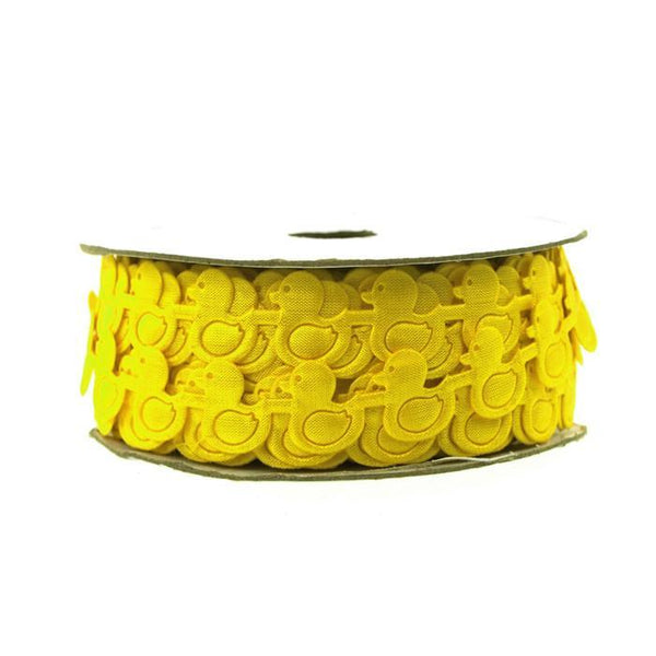 Rubber Ducky Garland Polyester Ribbon, 1/2-inch, 25-yard, Yellow