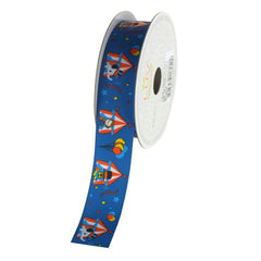 Animals Circus Tent Grosgrain Ribbon, 7/8-Inch, 10 Yards