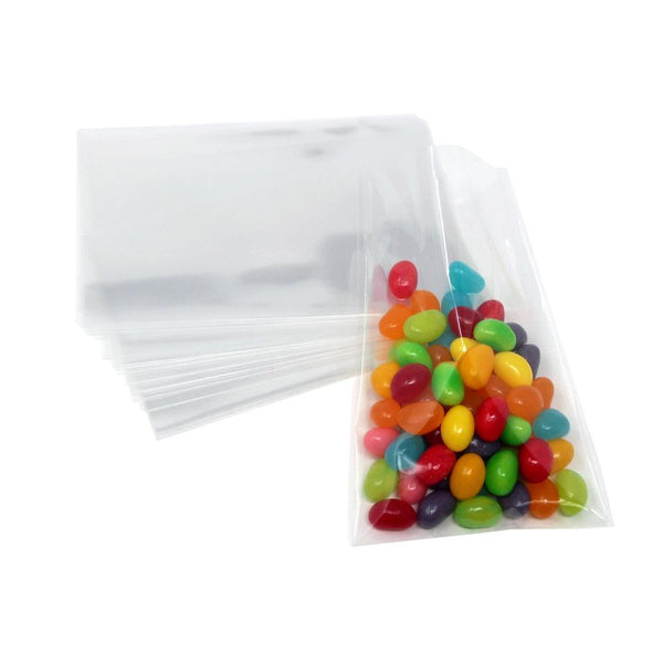 Clear Plastic Cellophane Candy Bags, 4-1/2-Inch x 3-Inch, 25-Count