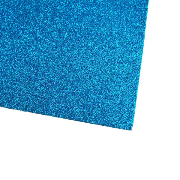 Self-Adhesive Glitter EVA Foam Sheet, 20-Inch x 27-1/2-Inch, 10-Piece, Turquoise