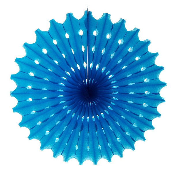 Decoration Hanging Paper Fan, 15-Inch, Turquoise