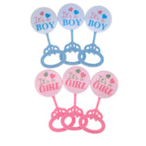 Mini Plastic Baby Rattle Favor Decorations, 3-1/2-Inch, 12-Count