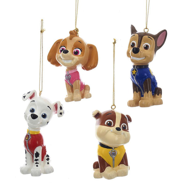 Hanging Paw Patrol Figurines Christmas Ornaments, Assorted Colors, Assorted Sizes, 4-Piece