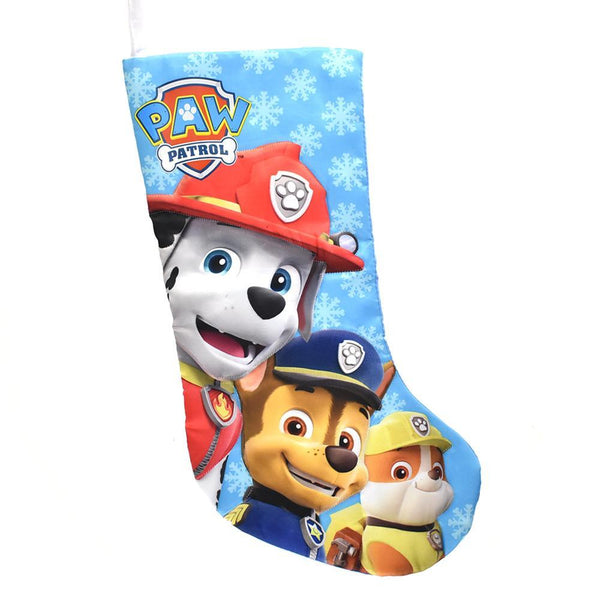 Paw Patrol Satin Christmas Stocking, Light Blue, 17-1/2-Inch