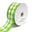 Colorful Gingham Checkered Linen Wired Ribbon, Kiwi, 1-1/2-Inch, 10 Yards